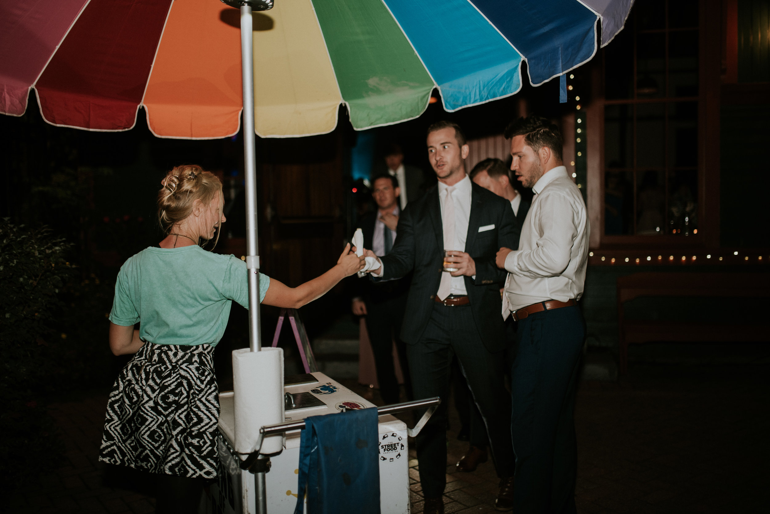 King of Pops popsicle at wedding