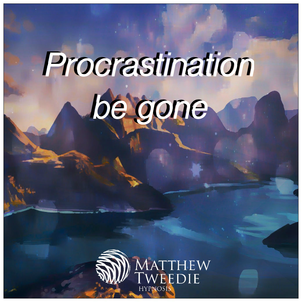 Clear your plate, desk and life of all of the little things that have been piling up with procrastination be gone hypnosis audio mp3.