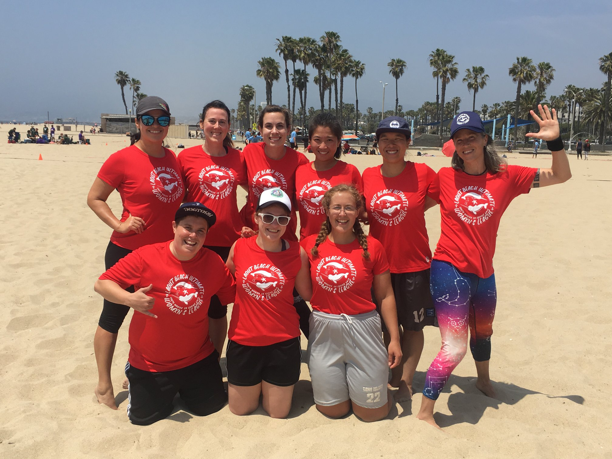 Dana, with her Ultimate Frisbee team, May 2019. They went on to win the league.