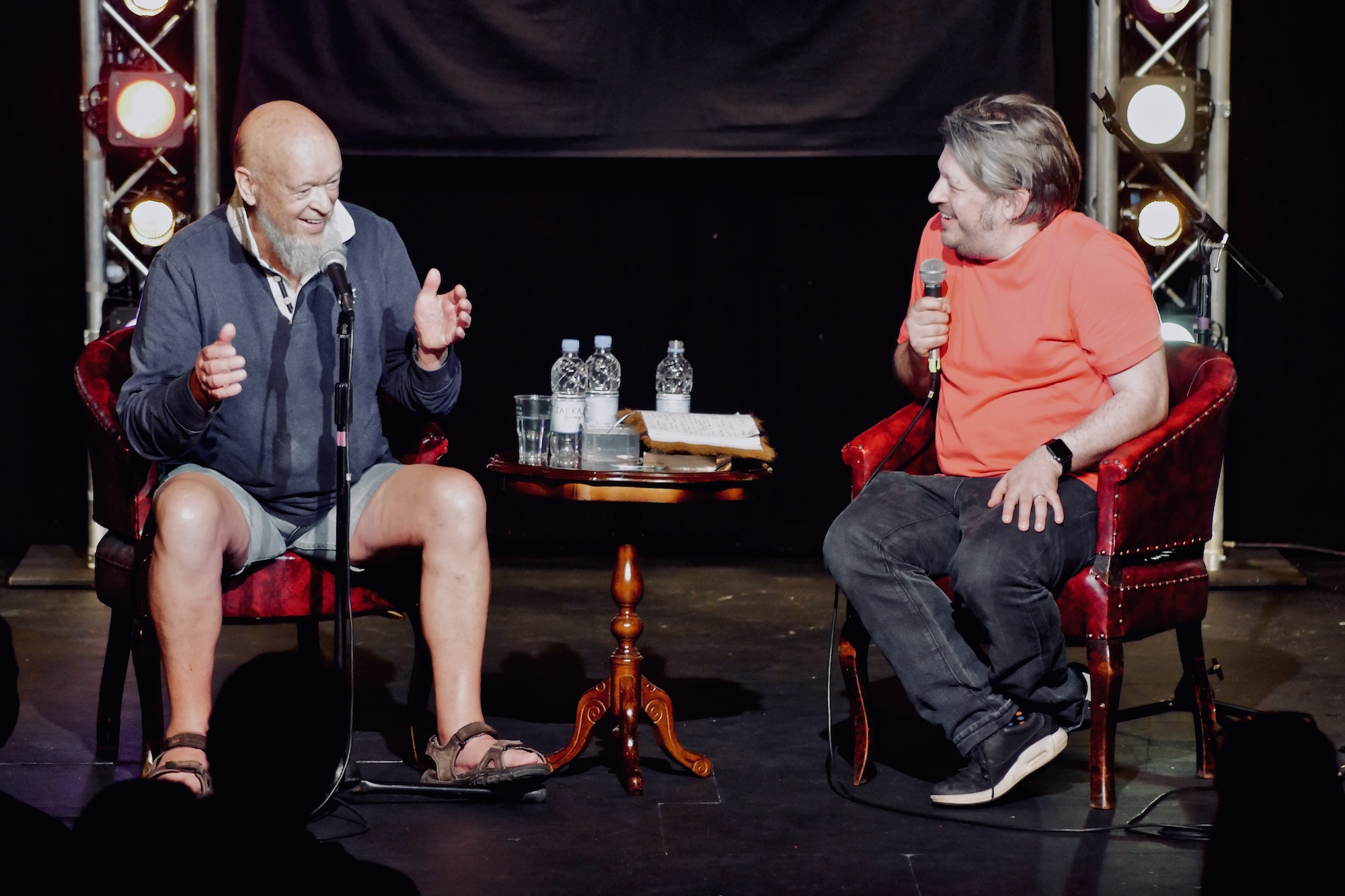 Michael Eavis and Richard Herring, 2018