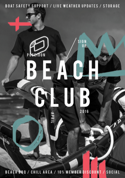 After the success of last year's Beach Club, we're opening our doors once more and inviting you to be a part of our crew for the new season. For just £10 a month, you'll be welcome to use a range of our facilities, as well as enjoying a discount on all of our services, including trips abroad. We'll be holding Beach Club social evenings on the last Thursday of every month, where, if it's windy we'll be kiting, and if it's calm we'll paddleboard to the many nearby quayside bars and pubs for a refreshing bevy, or two.  Whatever your sport, please feel free to get involved and be a part of our beach community.   Read more info here