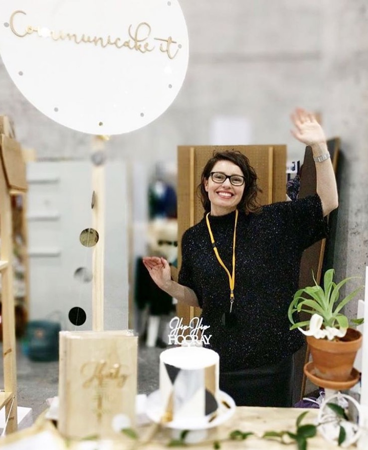 Bianca at Finders Keepers markets in Sydney.