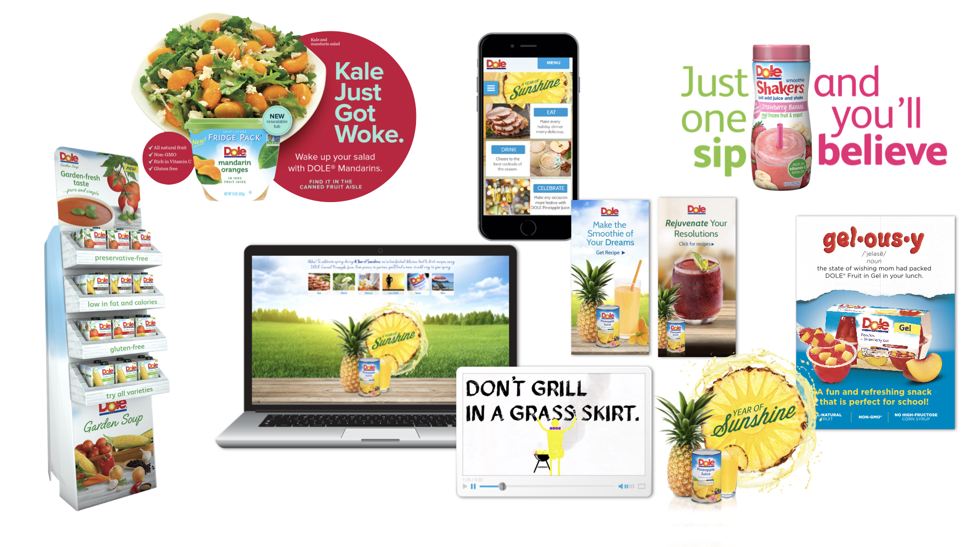 As one of Dole's key partners, we have worked on a variety of brand launches, strategic campaigns, and shopper marketing programs.