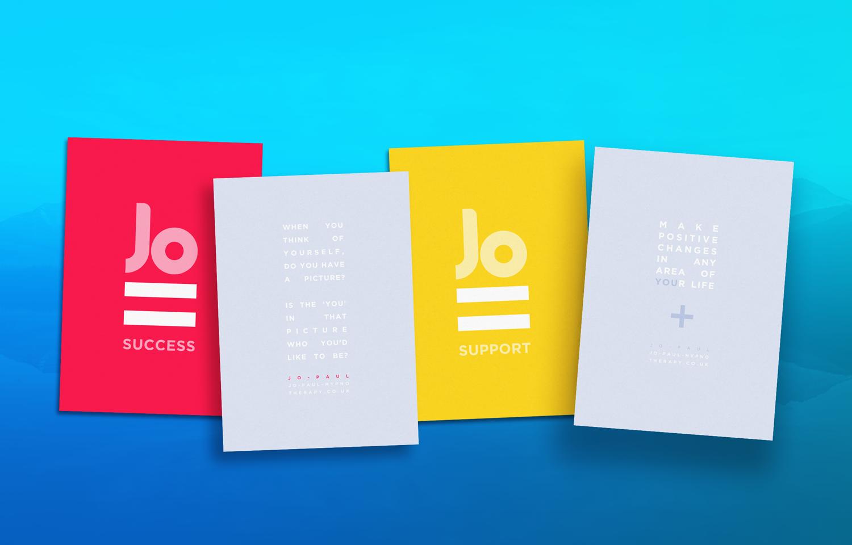 Marketing material designed for Jo Paul.