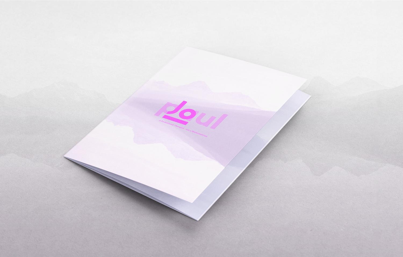 Tri-fold leaflet: front, design for Jo Paul.
