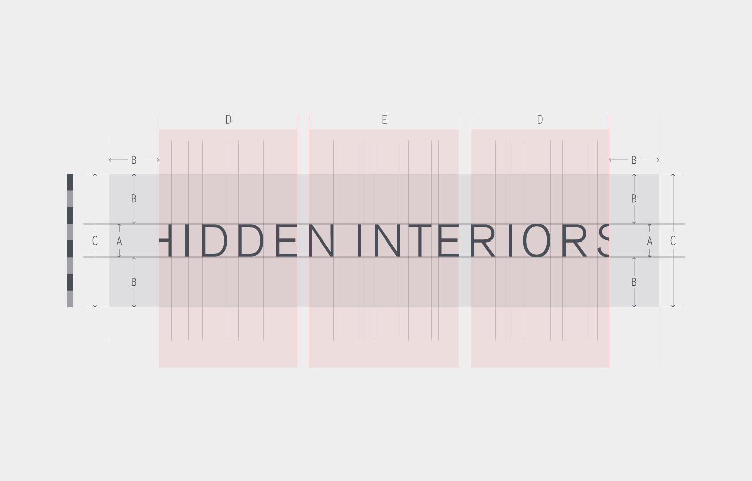 Logo design and layout for Hidden Interiors 01.