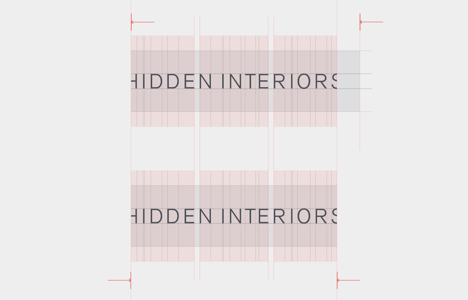 Logo design and layout for Hidden Interiors 03.