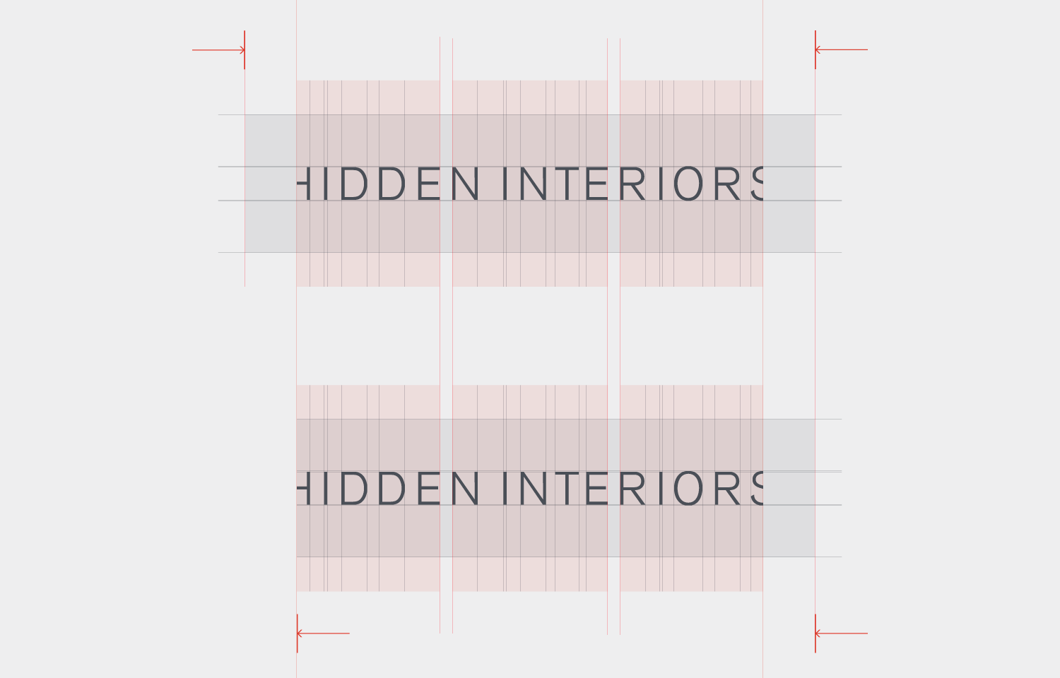 Logo design and layout for Hidden Interiors 02.