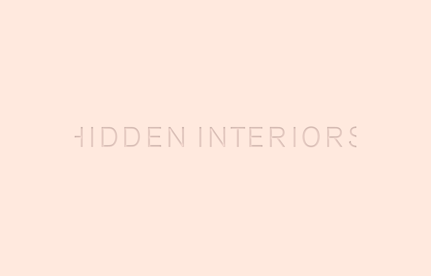 Hidden Interiors logo design, pink on pink.
