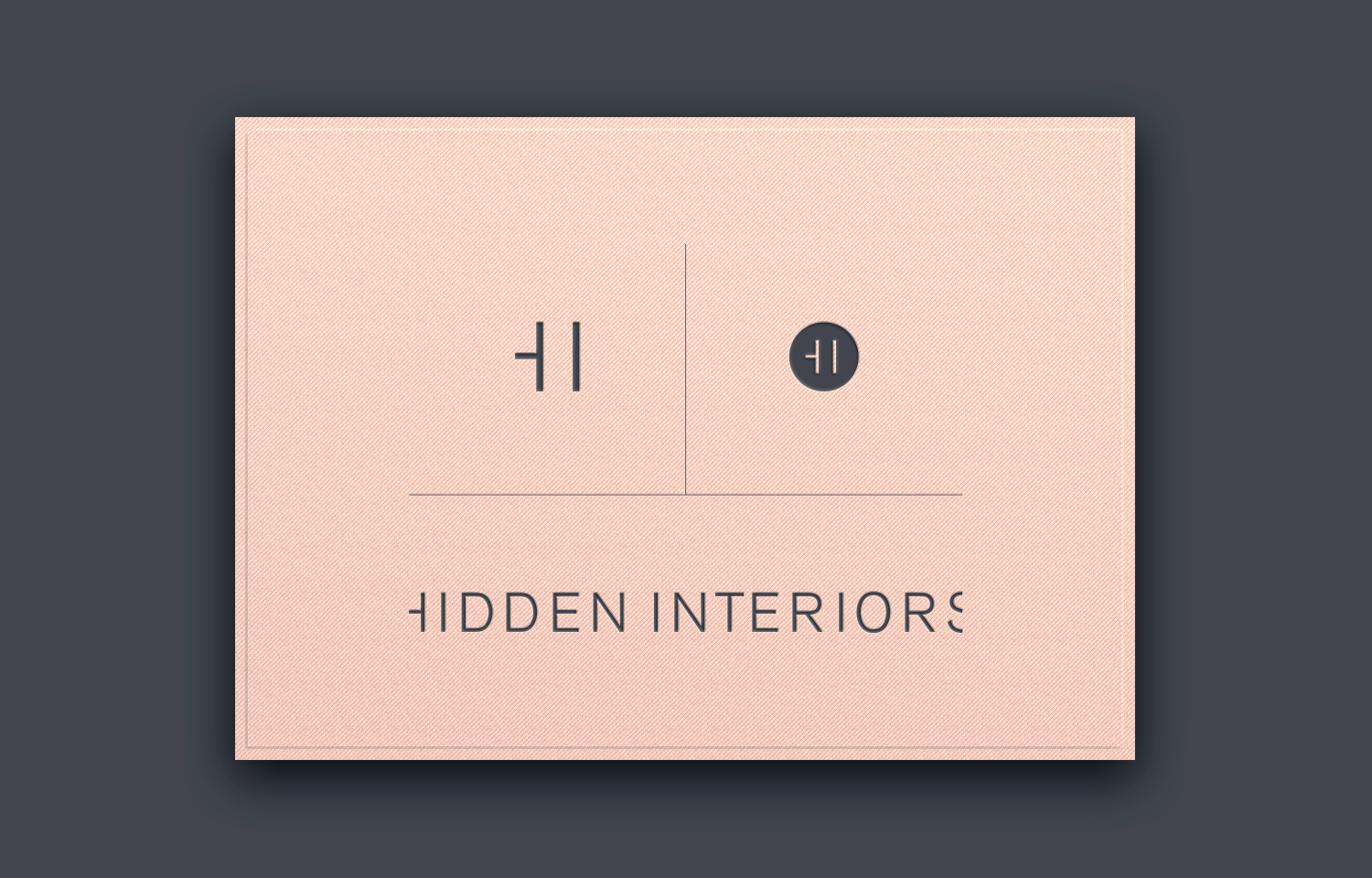All variations of the Hidden Interiors logo.