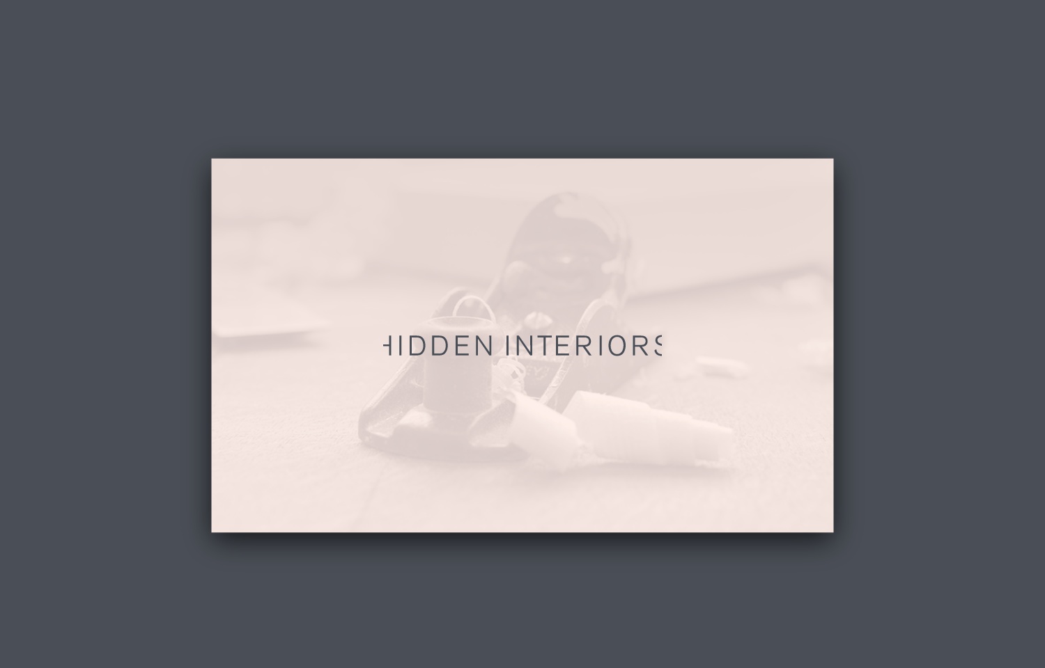 Logo and tone of voice for Hidden Interiors