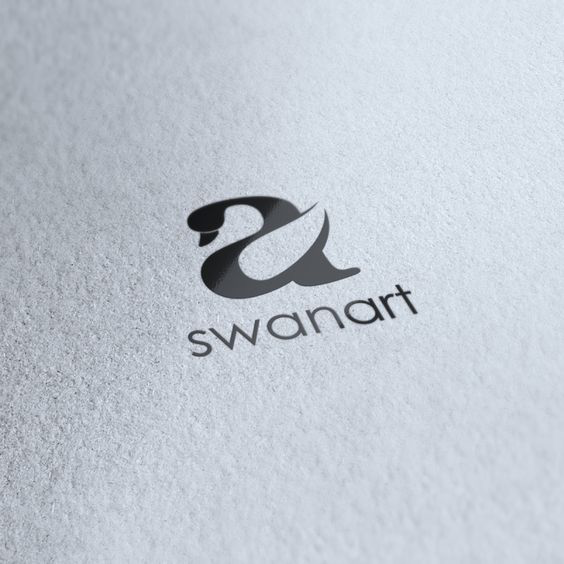 Swan Art logo designed by Spark Creative. -