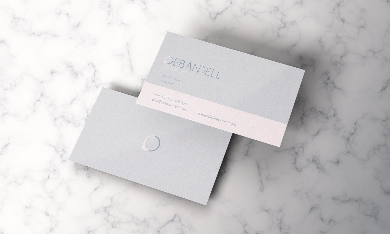 Business cards designed for Debandell Interiors.