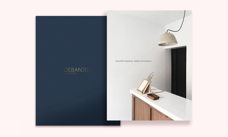 Promotional brochure design for Debandell Interiors.