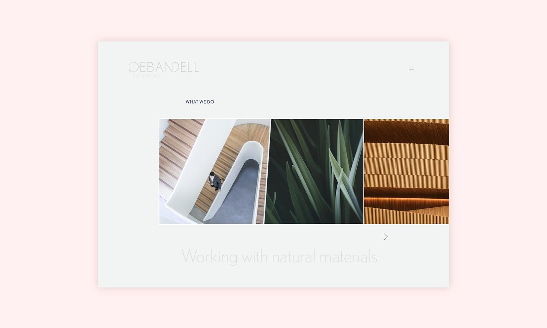 Branding and web design and branding for Debandell Interiors.