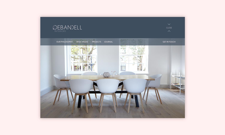 Branding and web design for Debandell Interiors.