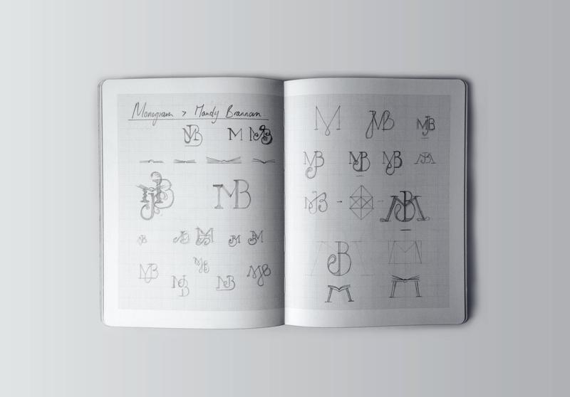 Sketching process for monogram design