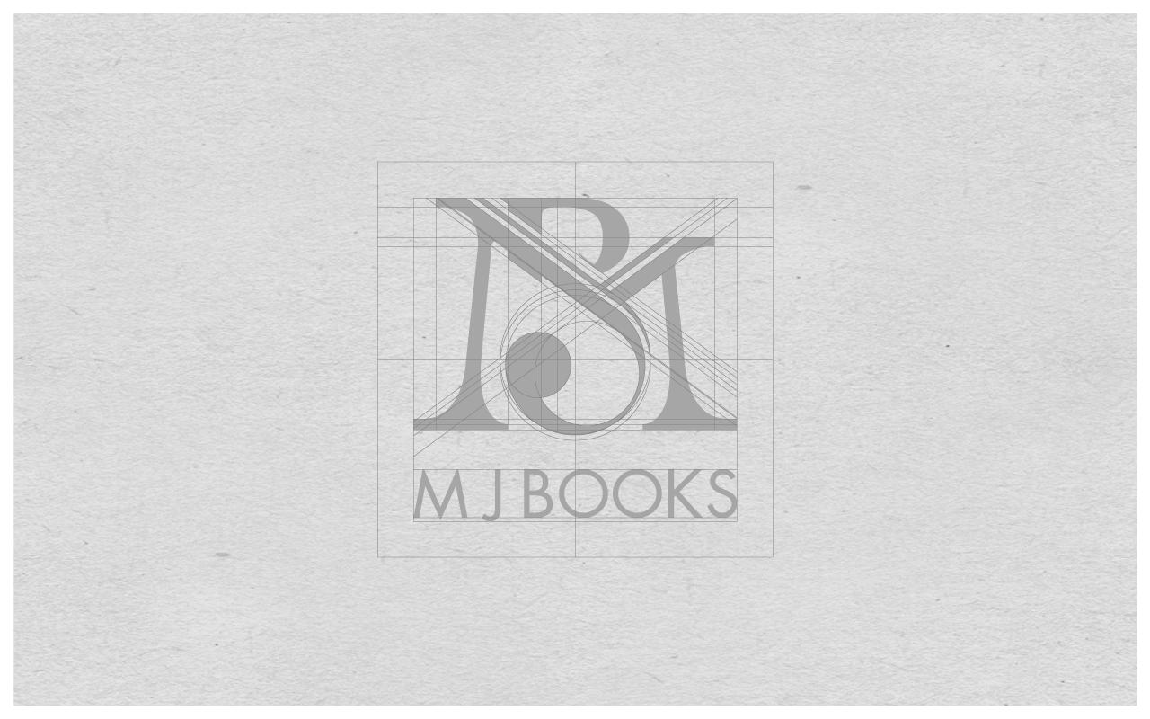 Layout for M J Books (AKA Mandy Brannan) monogram design.