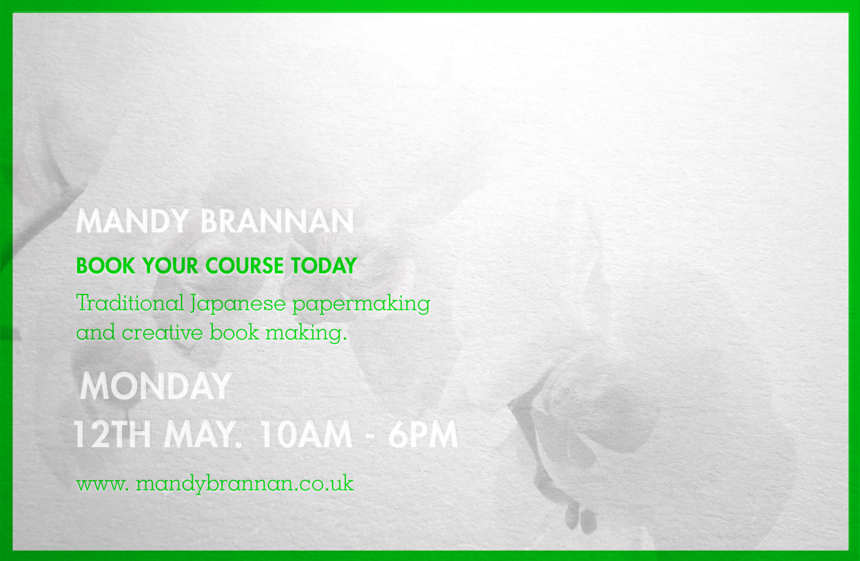 Promotional marketing postcard for book artist, Mandy Brannan.