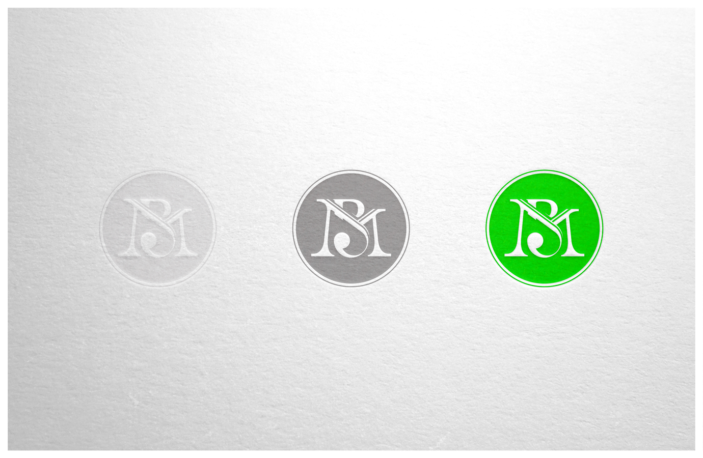 Monogram design in brand colours for Mandy Brannan.