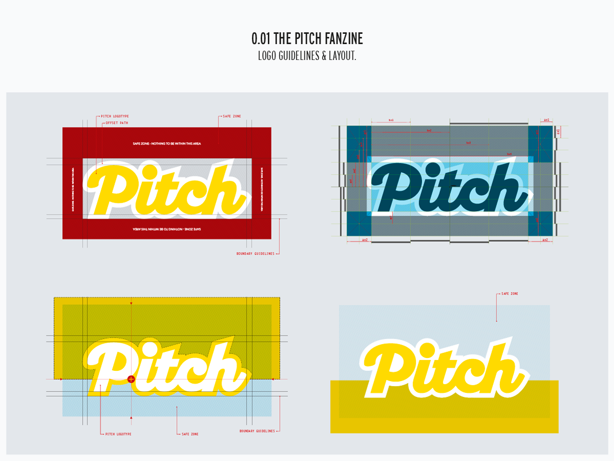 Pitch logo guidelines and layout.