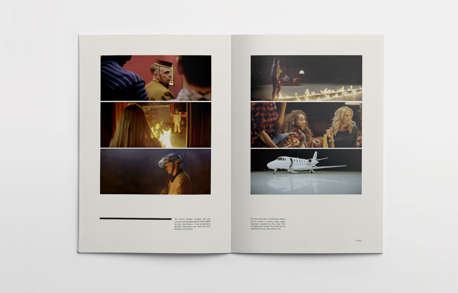 Editorial design for the Pitch Fanzine: the Familia Films issue 01.