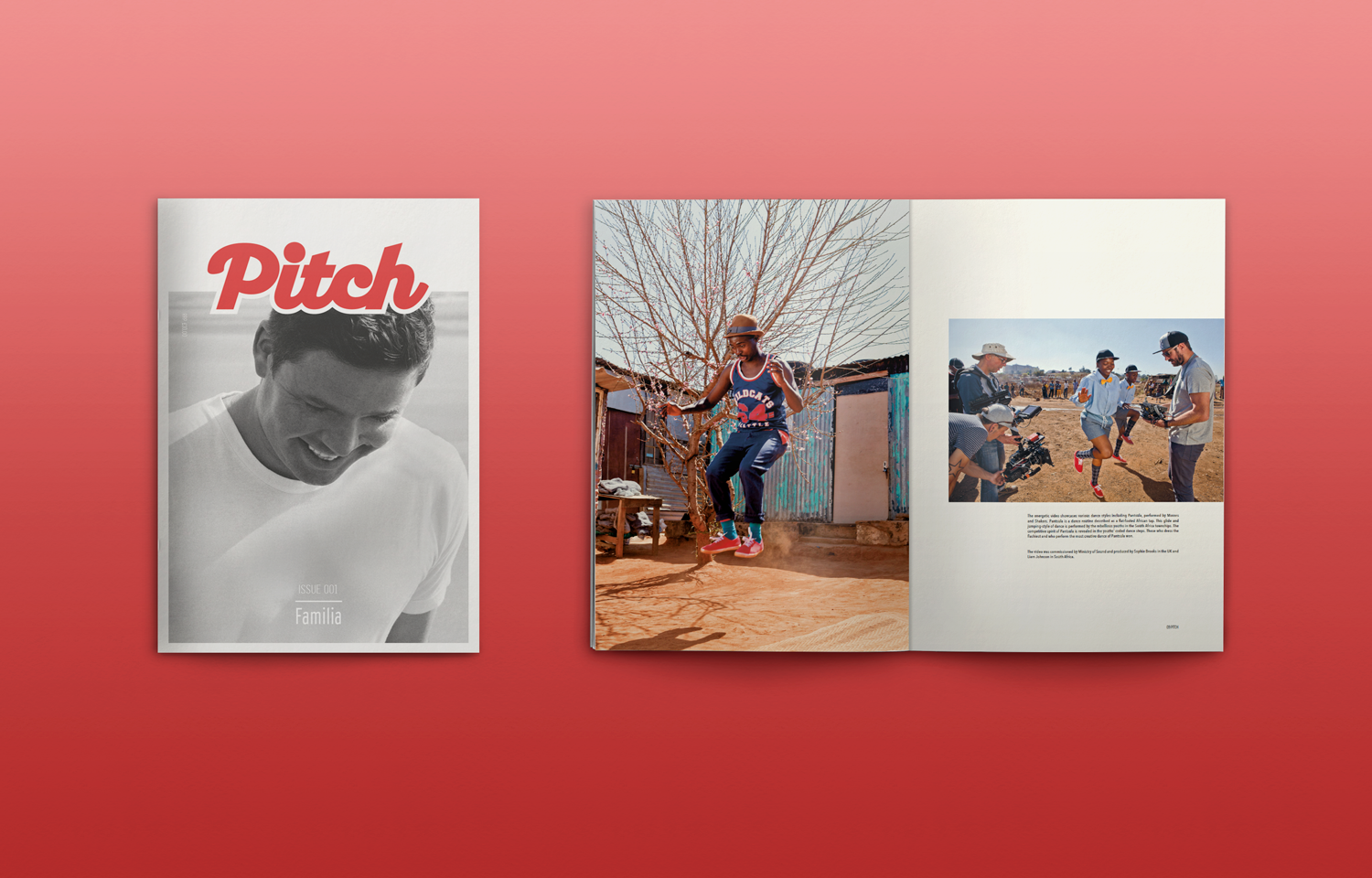 Editorial design and art direction for the Pitch Fanzine: the Familia Films issue 01.
