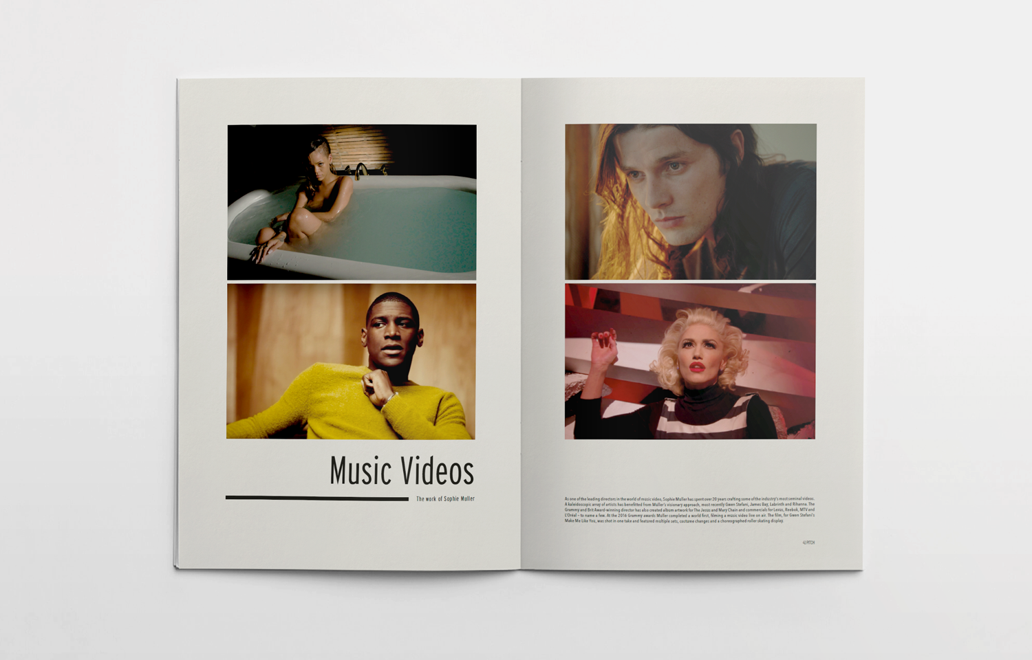 Editorial spread featuring Sophie Muller for the Pitch fanzine.
