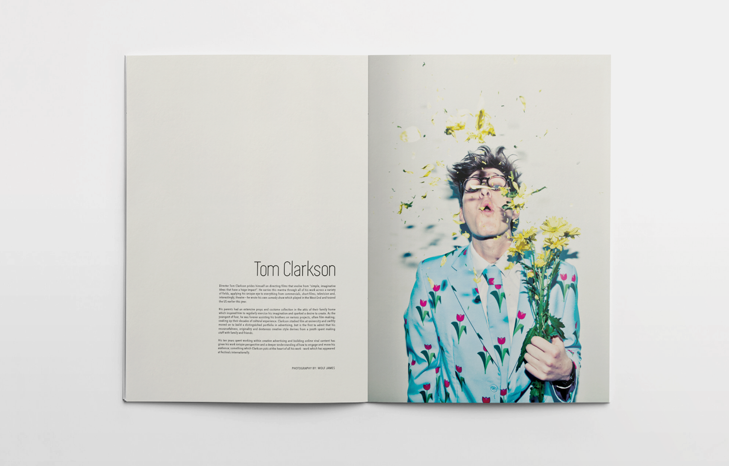 Inside spread for The Pitch Fanzine, issue 3 featuring Tom Clarkson.