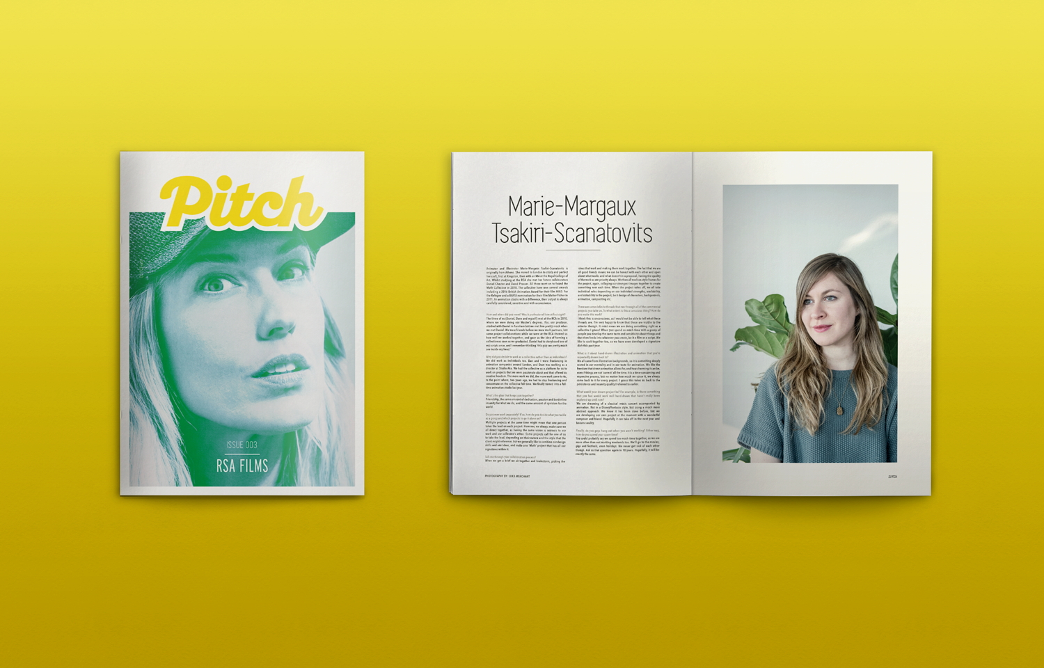 The Pitch Fanzine font cover and inside spread for issue 03.