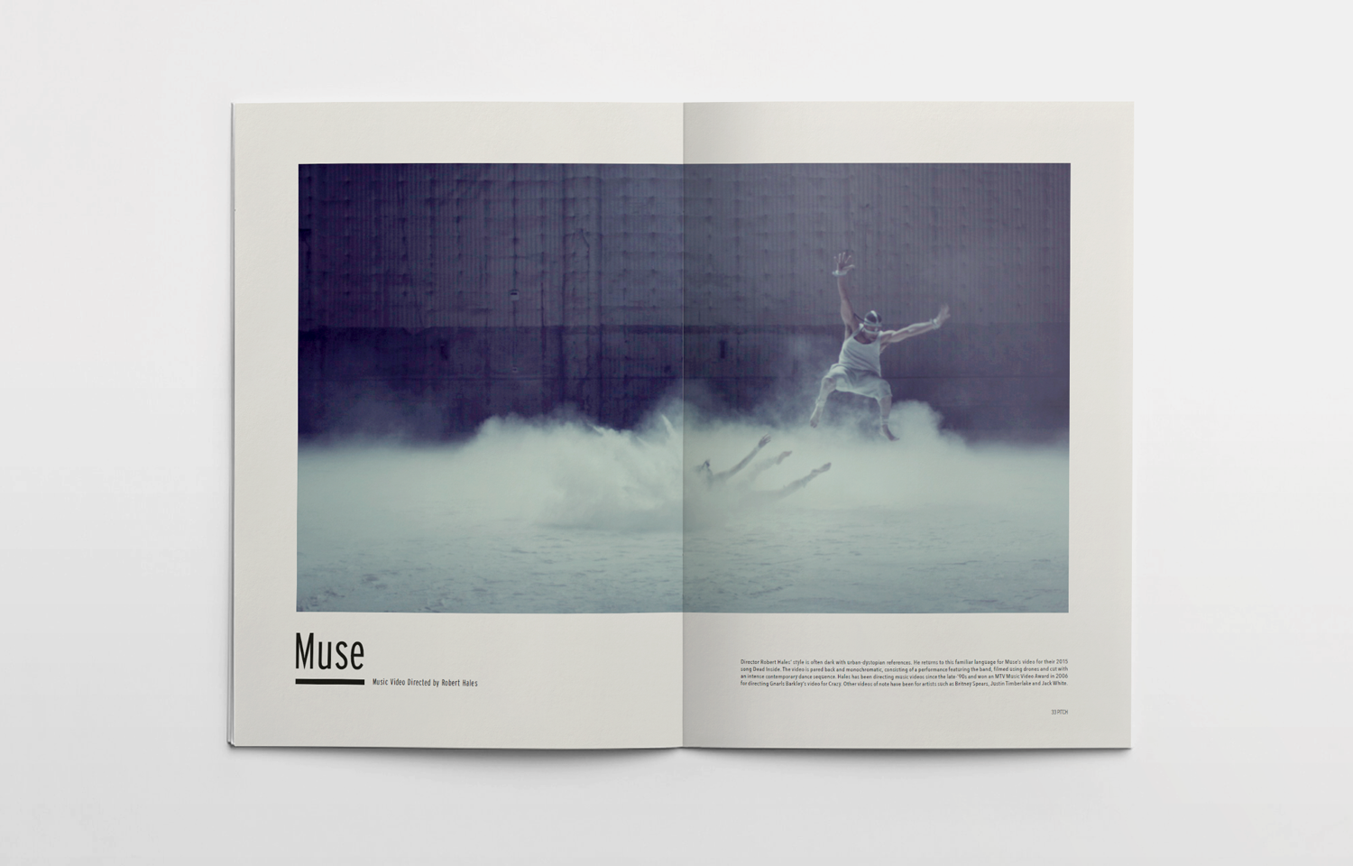 Inside spread for The Pitch Fanzine, issue 3 Muse.