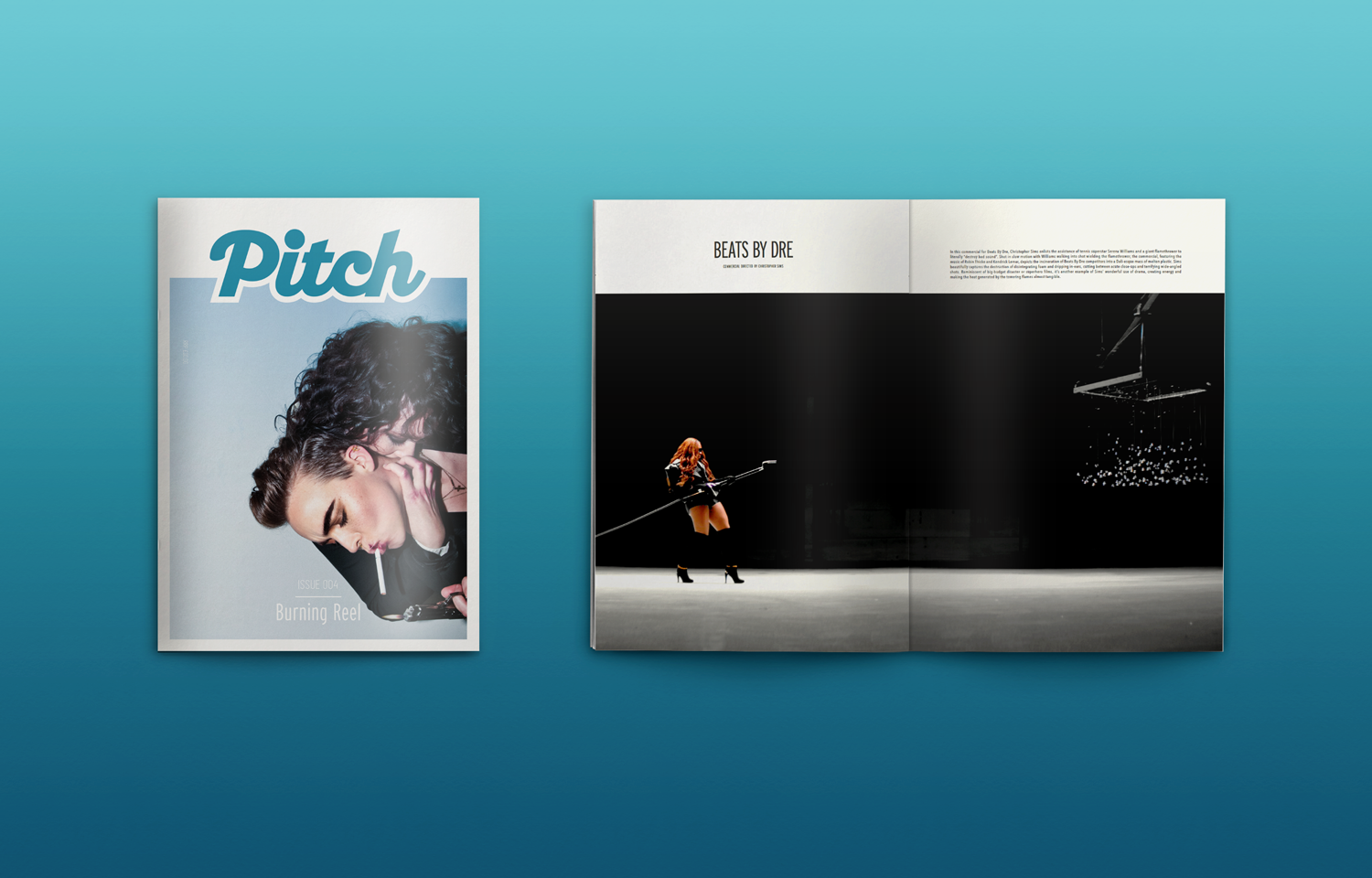 The Pitch Fanzine font cover and inside spread for issue 04.