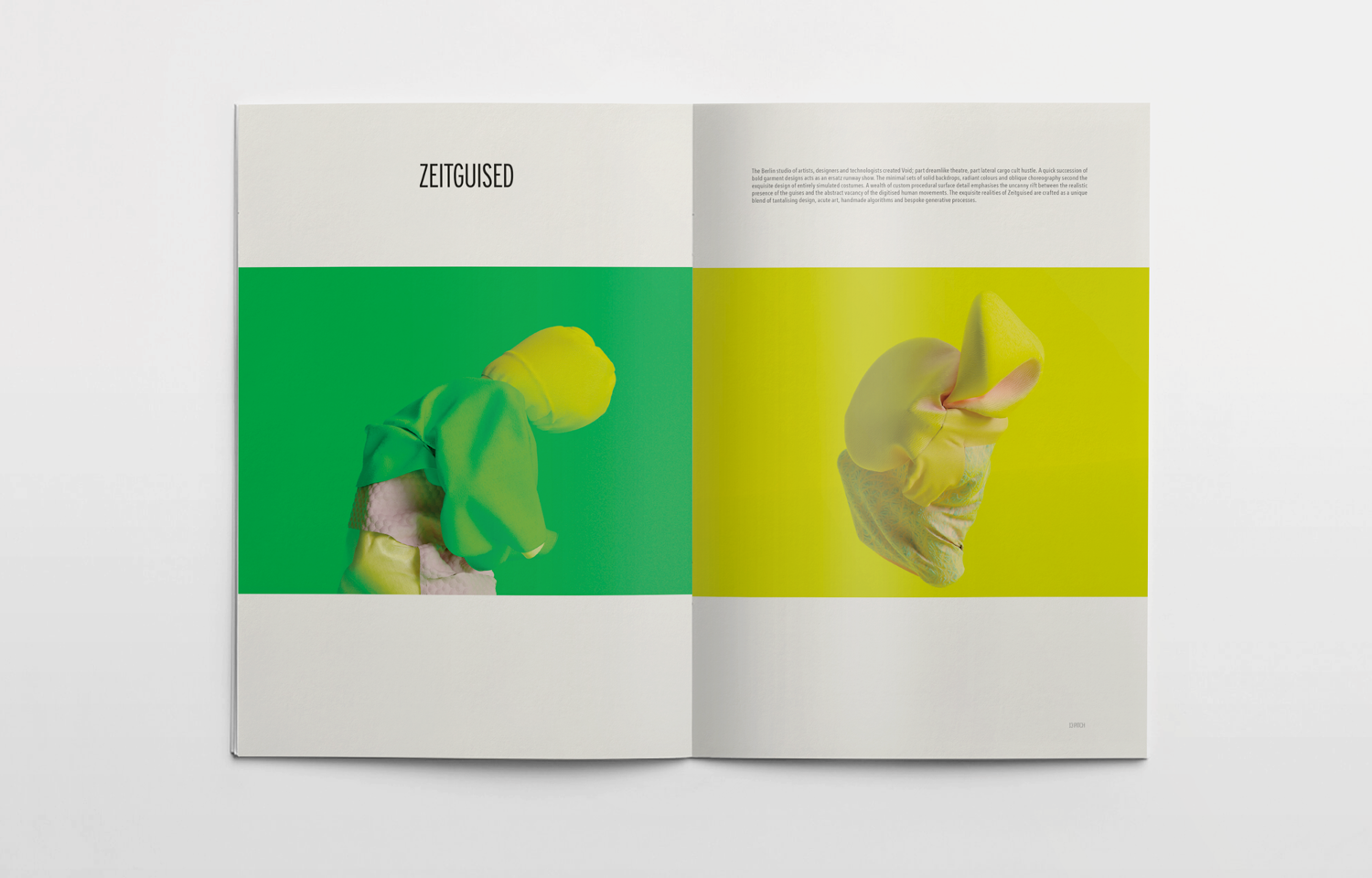 Editorial spread featuring Zeitguised for the Pitch fanzine.