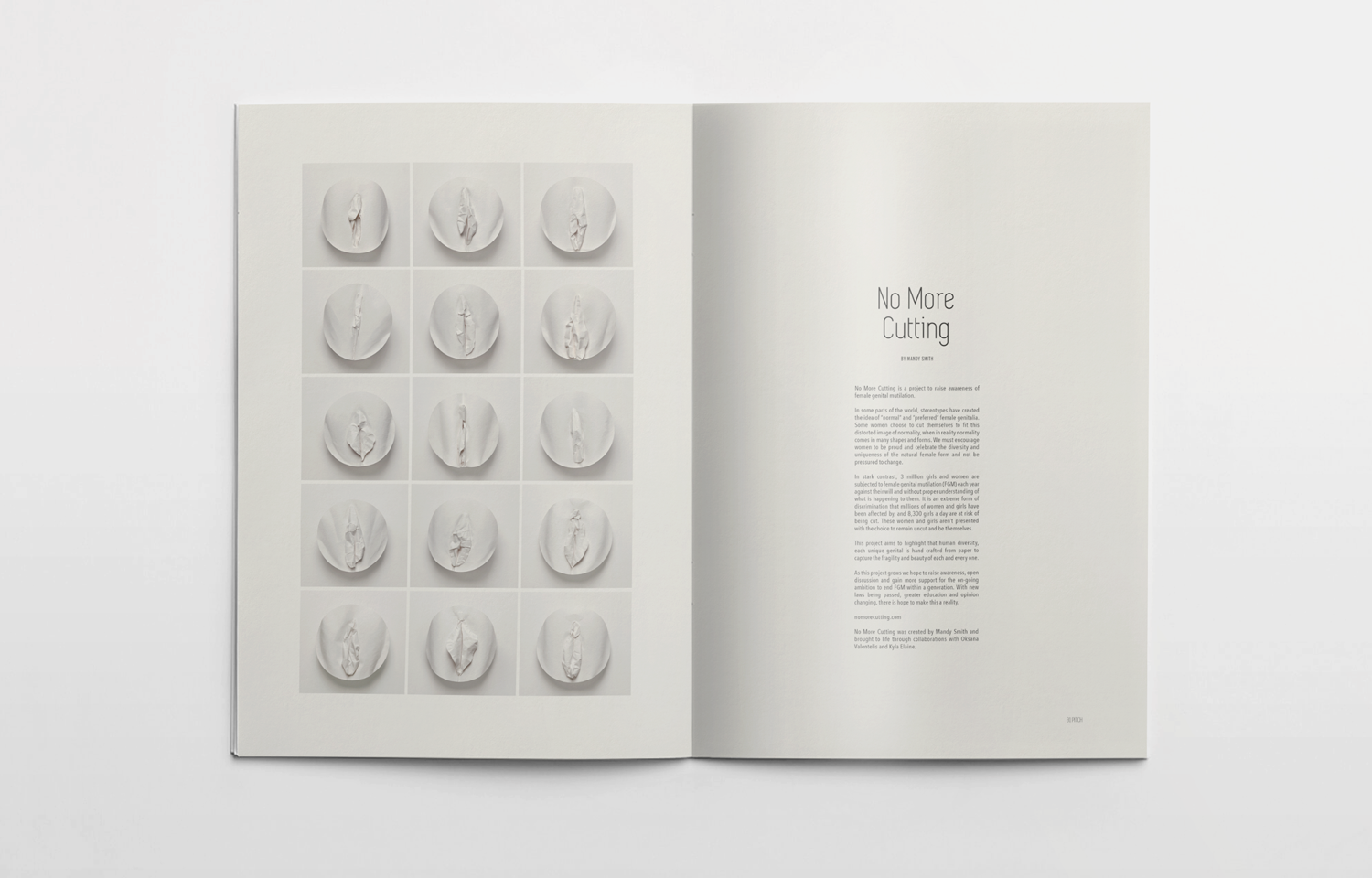 Editorial design, inside spread for Pitch featuring Mandy Smith.