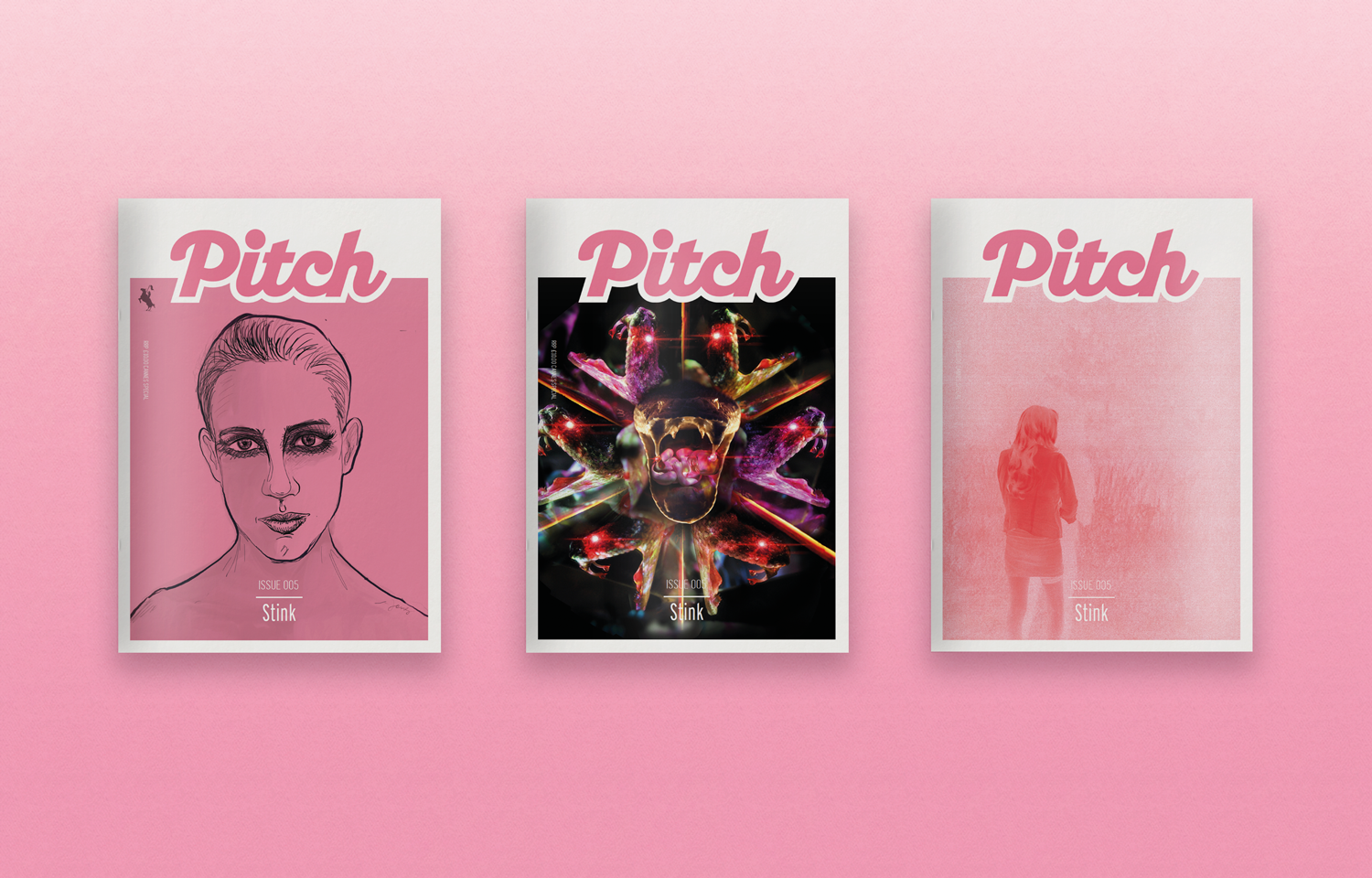 Front cover for the Pitch Fanzine Stink films Cannes edition issue 5.