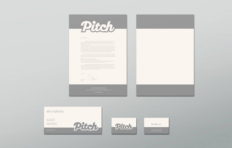 Pitch stationery design.