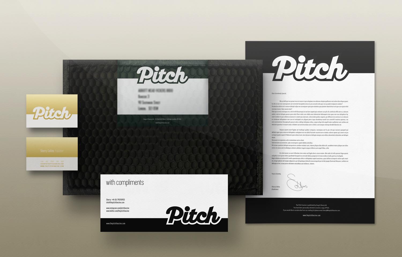 Branding for the Pitch Fanzine.