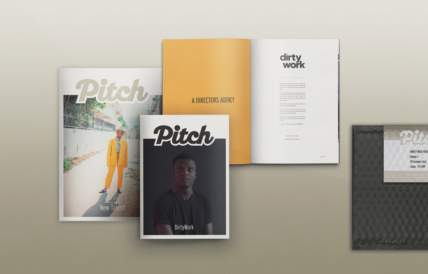 Editorial design and branding for the the Pitch Fanzine.