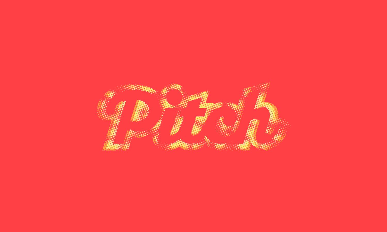 The Pitch Fanzine alternative logo design for digital media