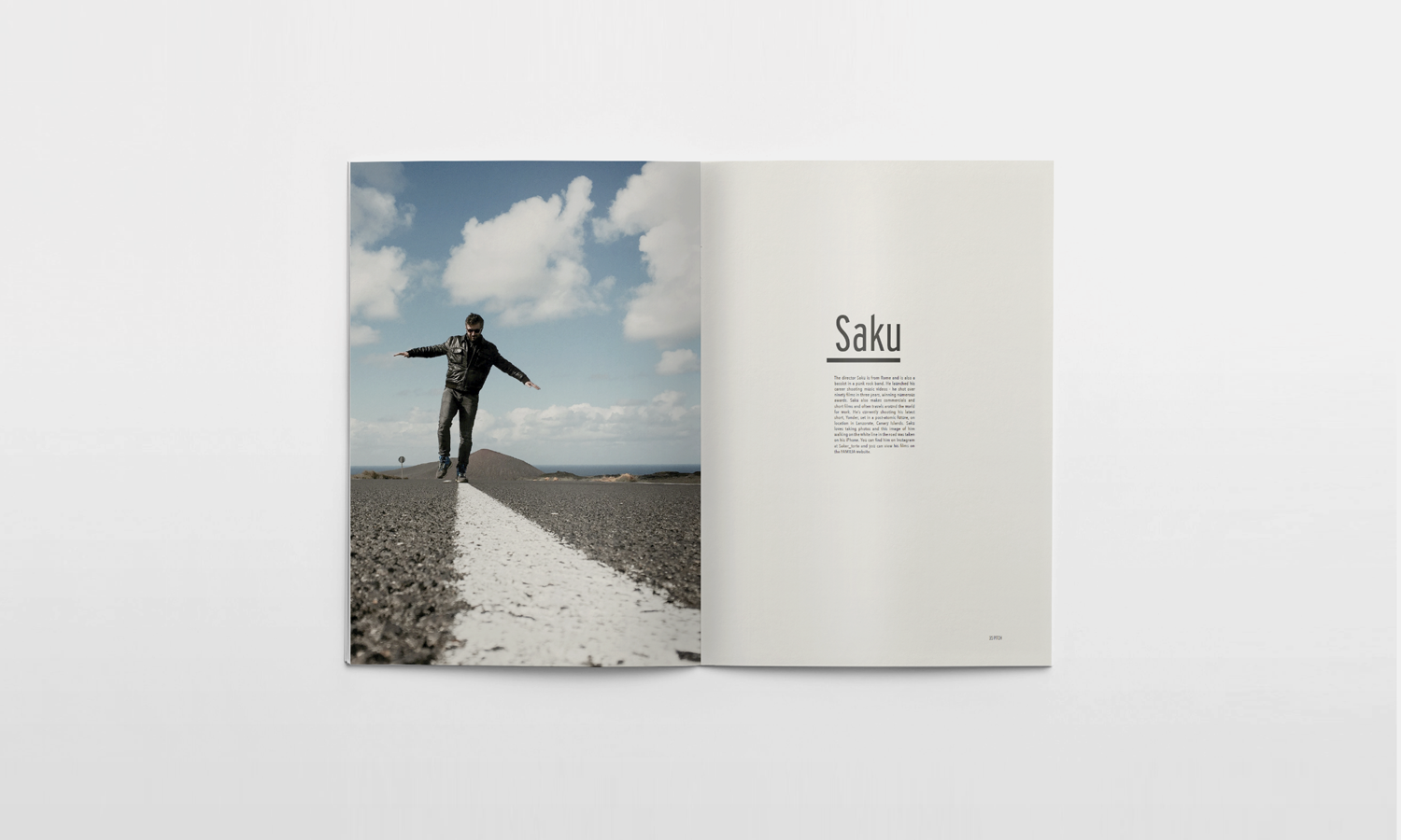 Inside spread for the Pitch Fanzine, the Familia issue, 01.