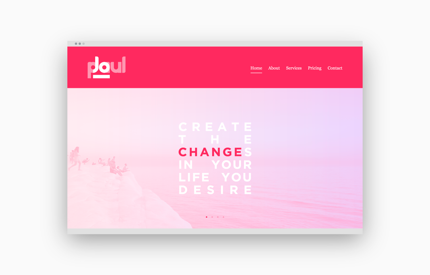 """Changes"" load screen sequence for Jo Paul website - 1a."