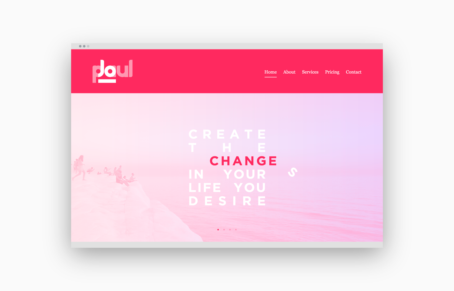 """Changes-2"" load screen sequence for Jo Paul website - 1b."