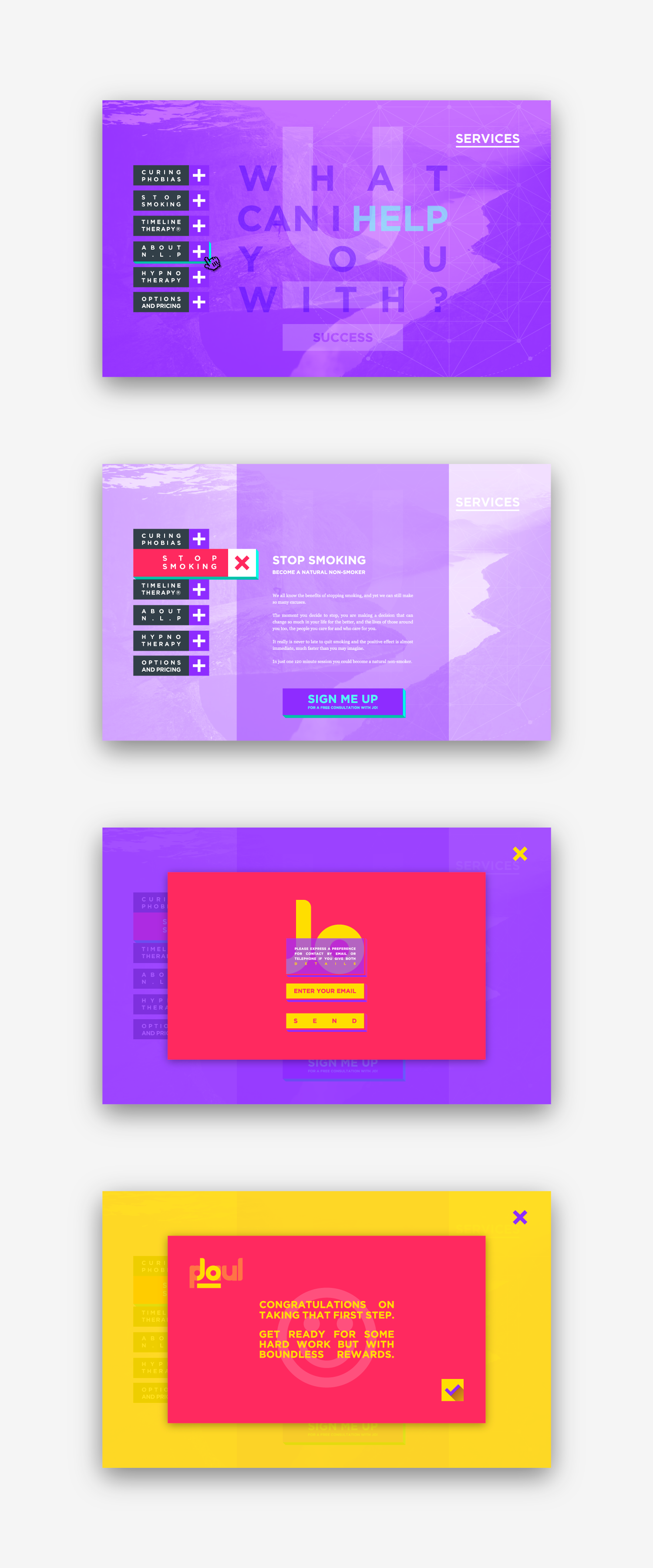 Web design for creative therapist, Jo Paul.