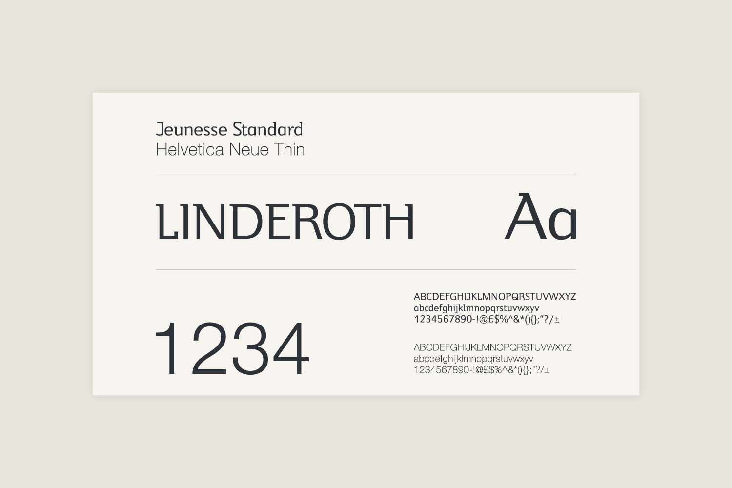 Branding and typography design for Linderoth Jewellery.