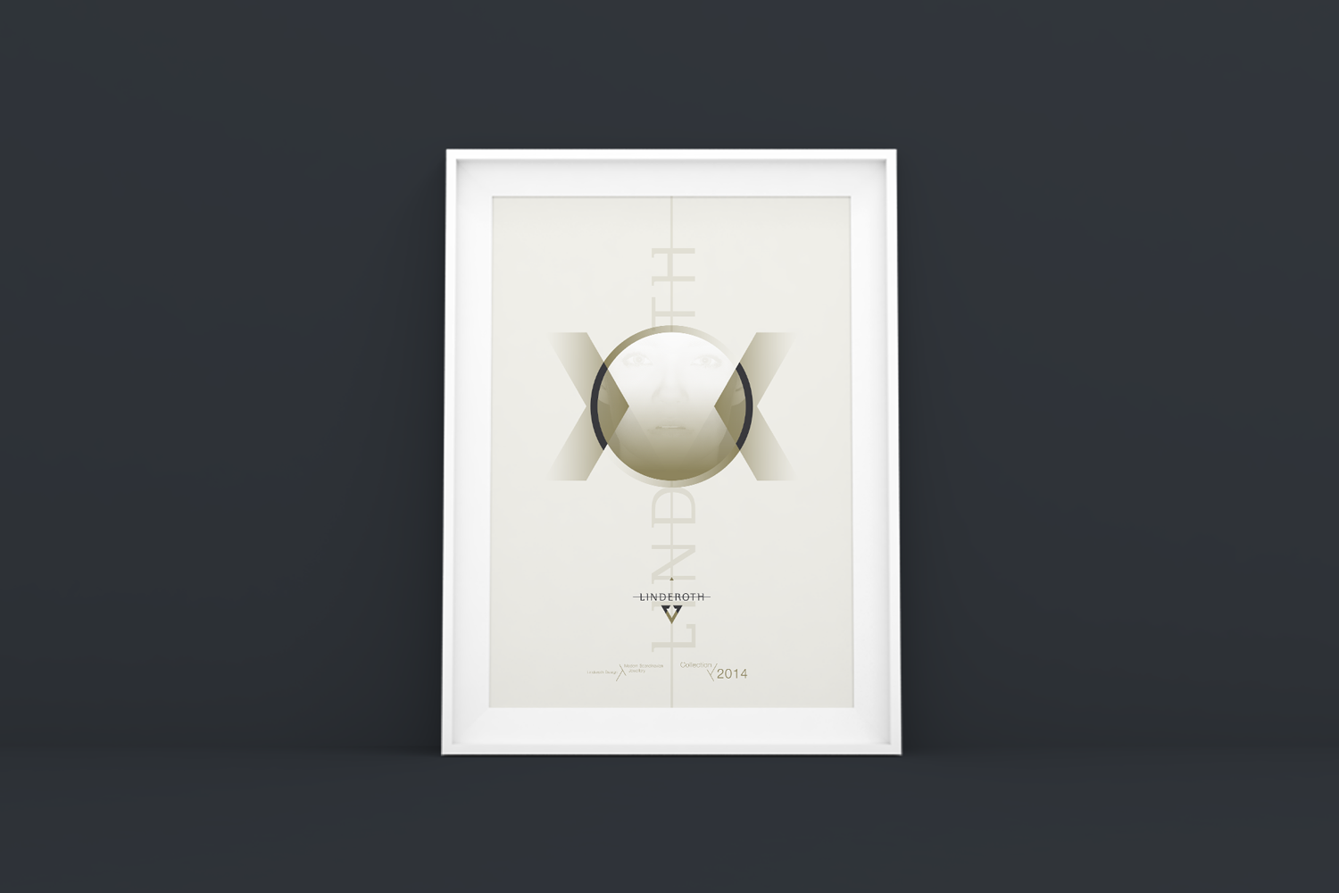 Poster design for Linderoth Jewellery - light version.