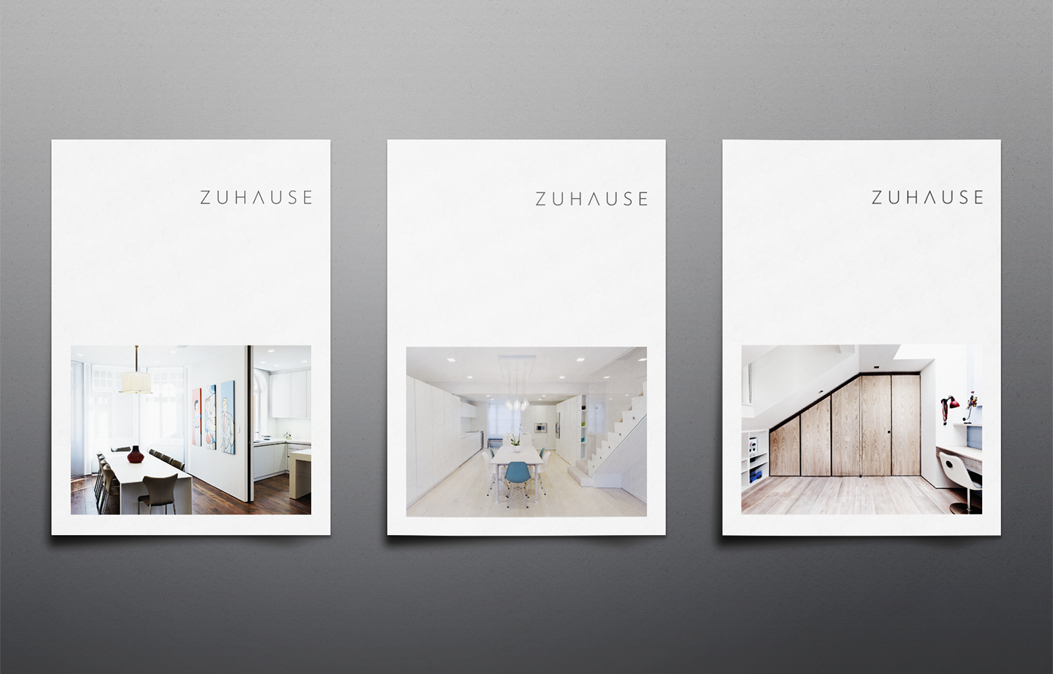Zuhause Architects A4 marketing mail out.