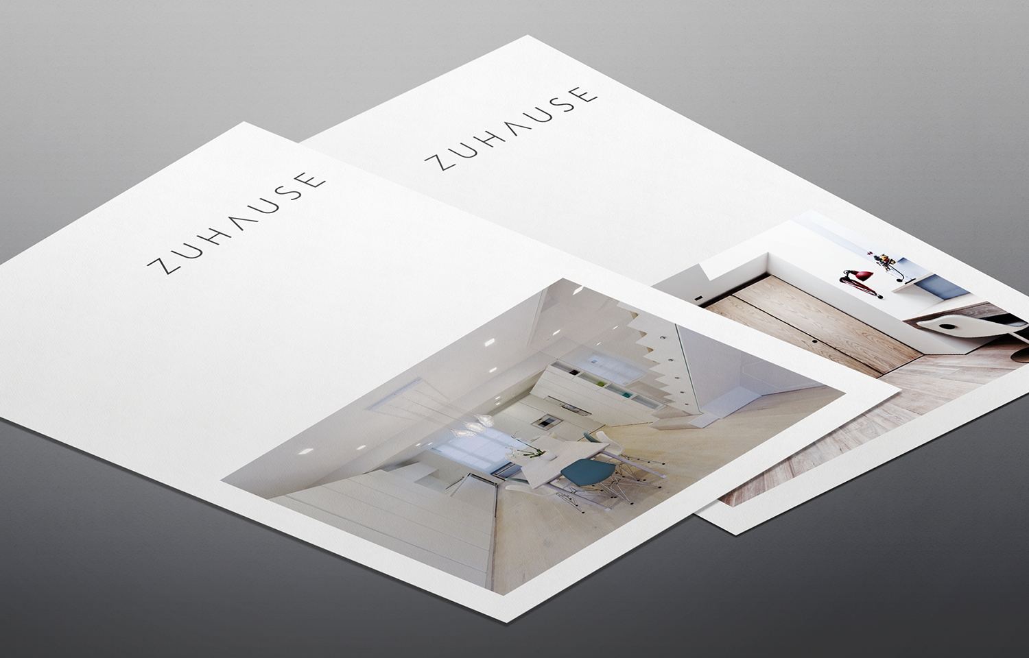 A4 marketing mail outs for Zuhause Architects: brand shot 02.
