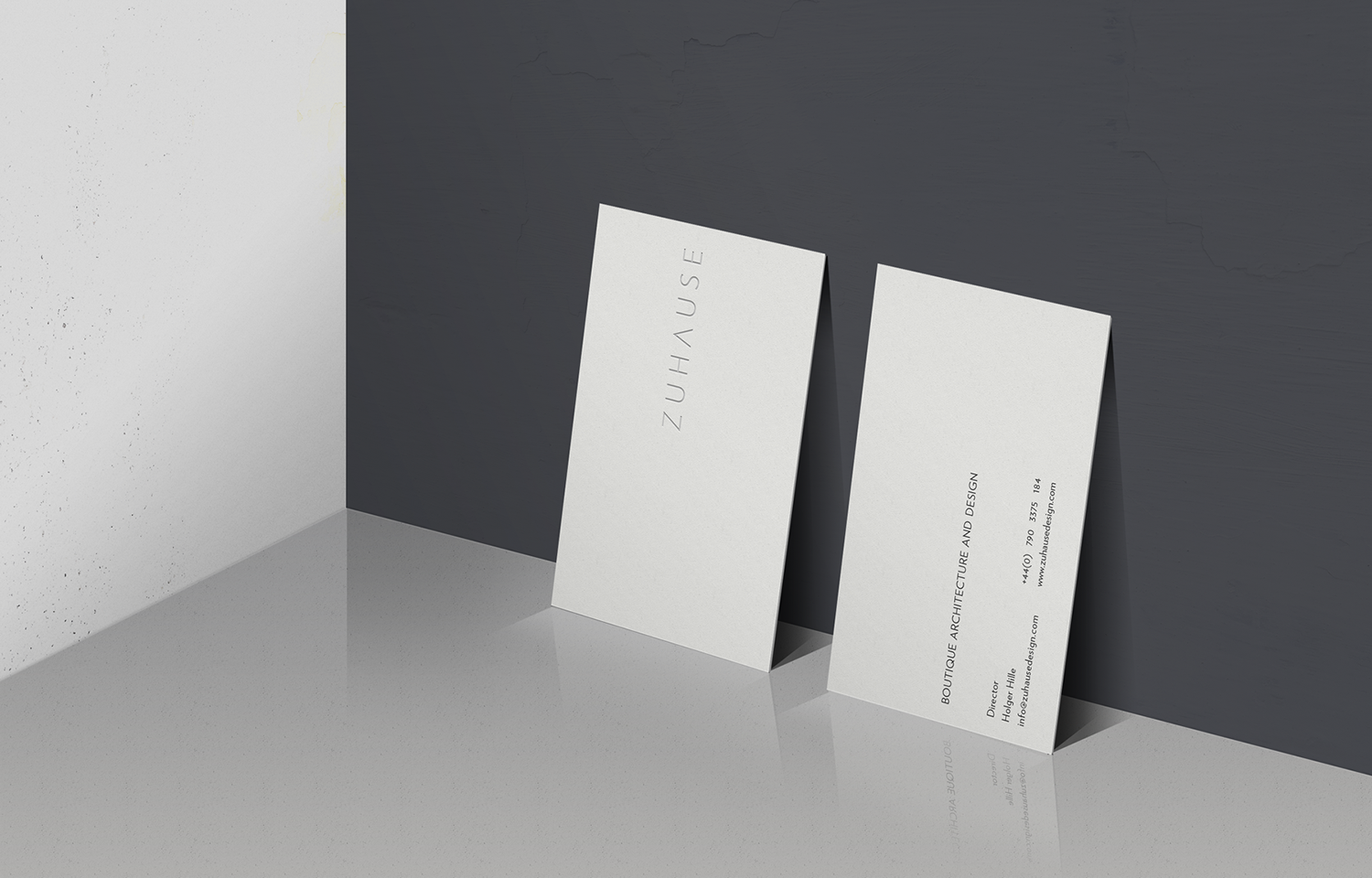 Zuhause Architects business card design brand shot - 02