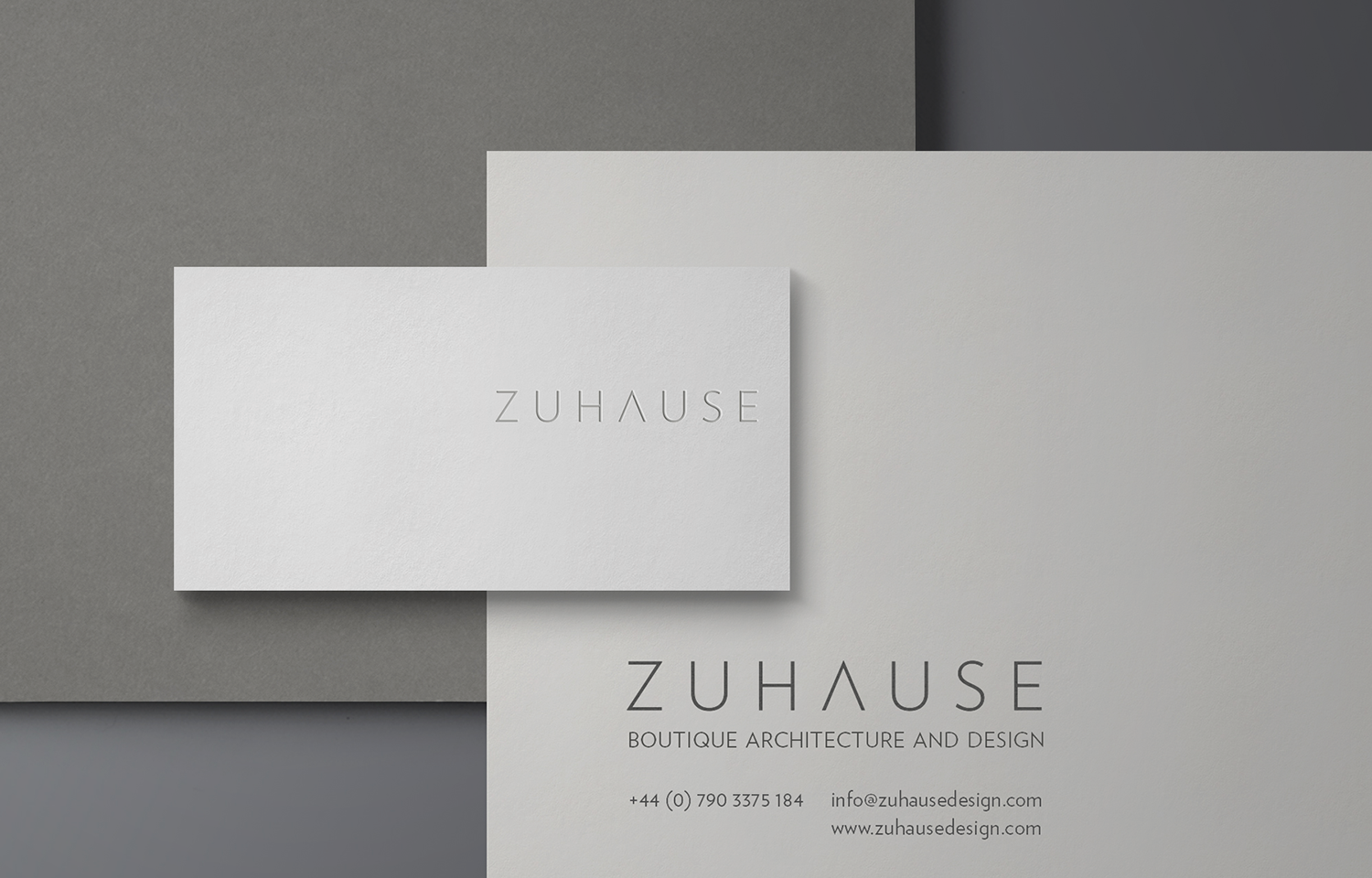 Stationery set design for Zuhause Architects.