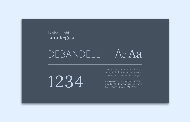Branding for Debandell Interiors; type design.